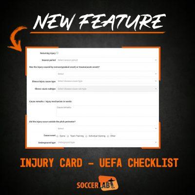 Injury card - uefa checklist
